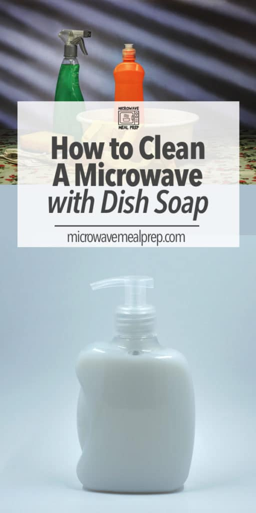How to clean a microwave with dish soap