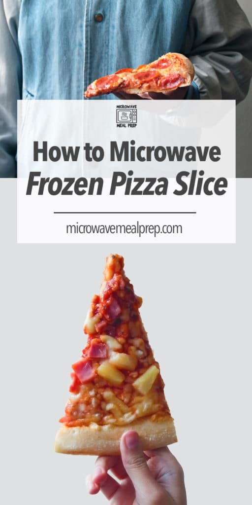 How to microwave a frozen pizza slice