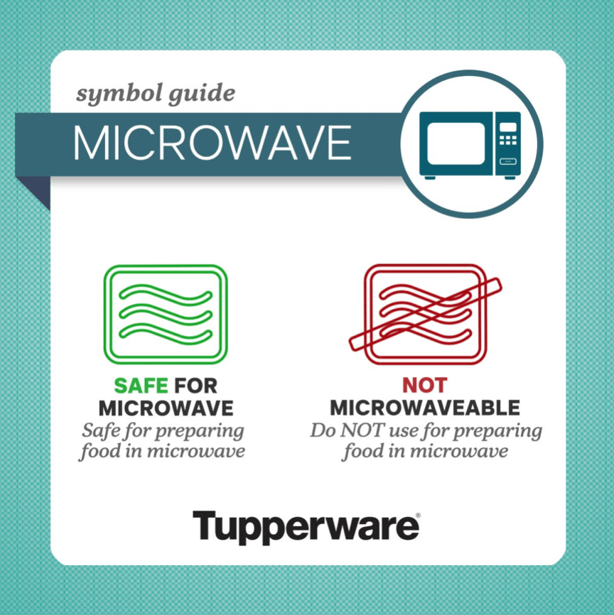 Tupperware microwave symbol