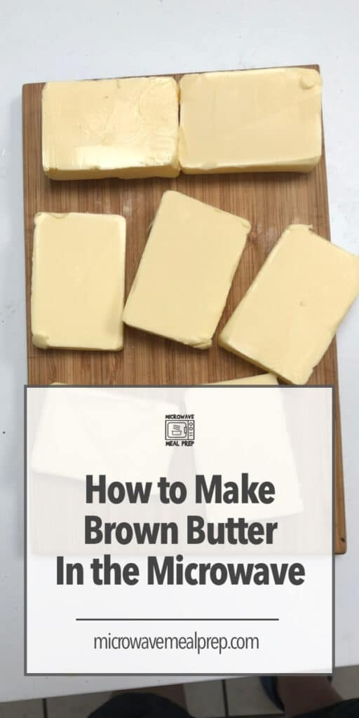 How to make brown butter in the microwave.