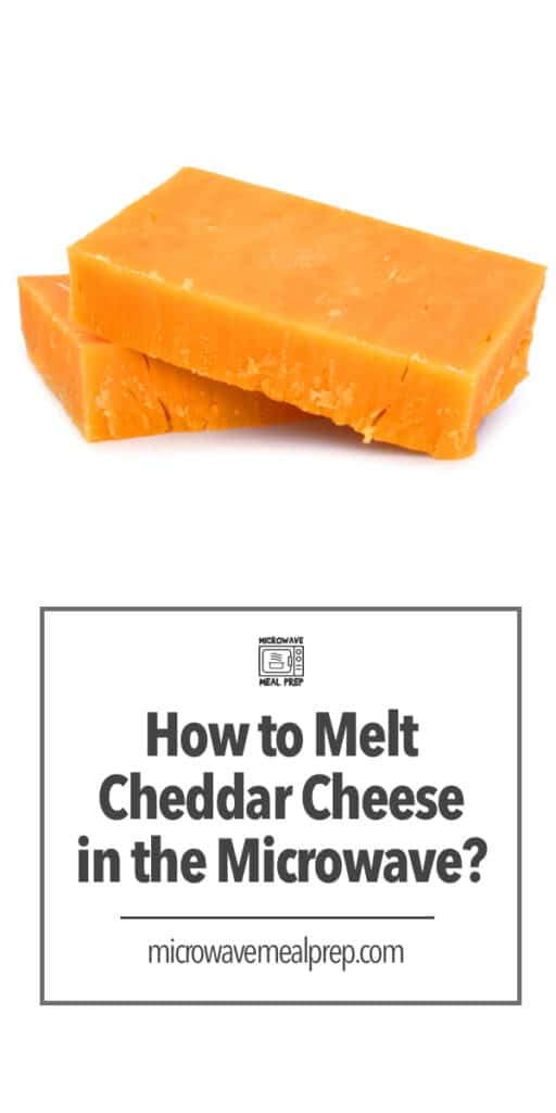 How to melt cheddar cheese in microwave.