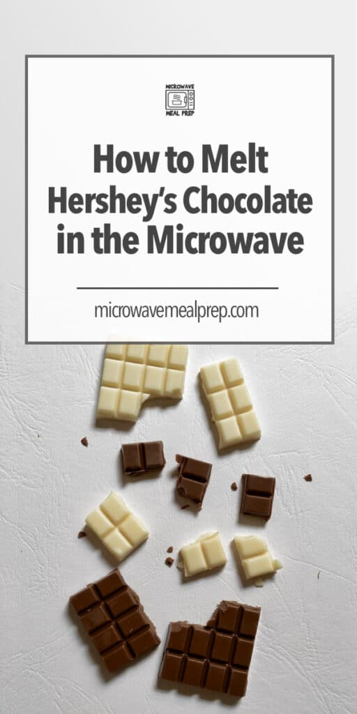 How to melt Hershey's chocolate in microwave.