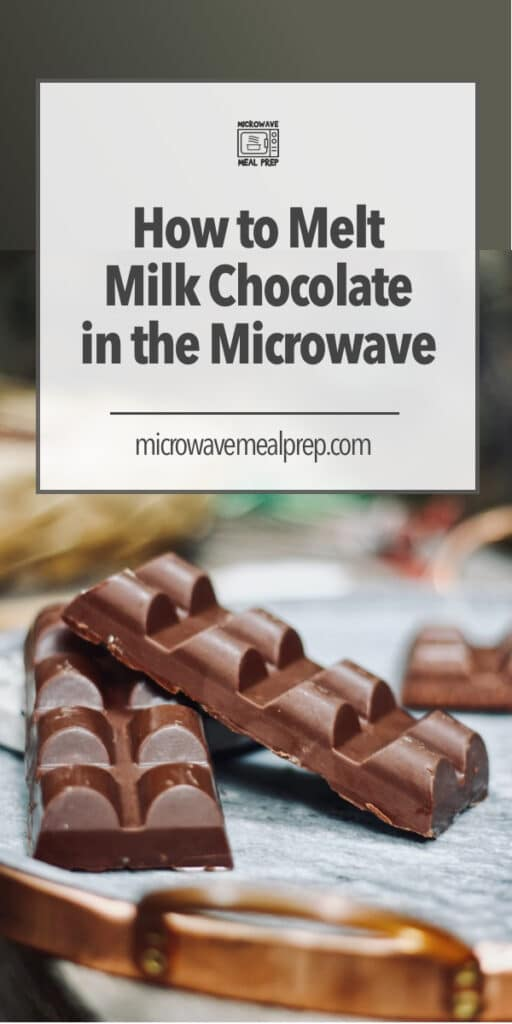 How to melt milk chocolate in microwave.