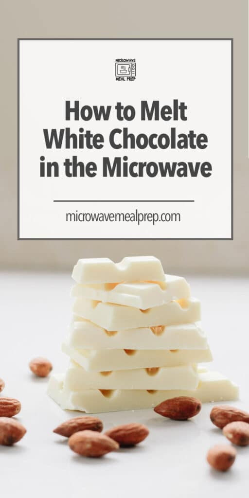 How to melt white chocolate in microwave.
