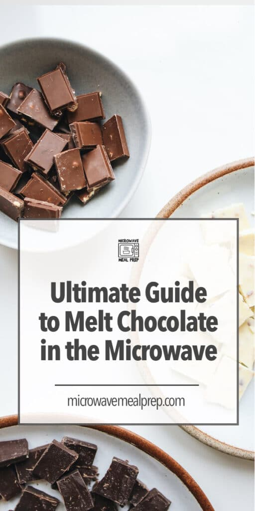 Ultimate guide to melt chocolate in microwave.