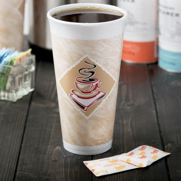 Is it safe to microwave coffee in a styrofoam cup?