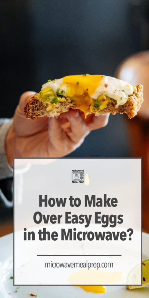 How to make over easy eggs in the microwave