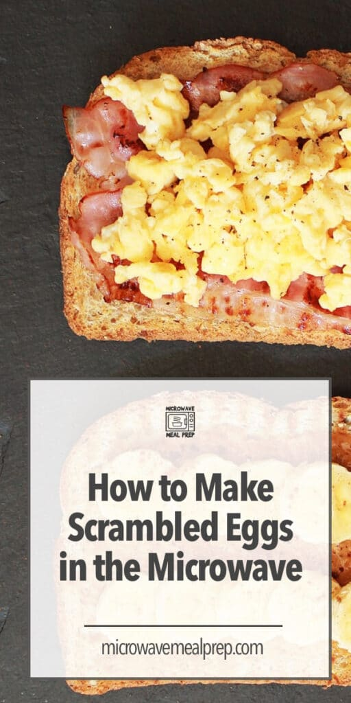How to make scrambled eggs in the microwave