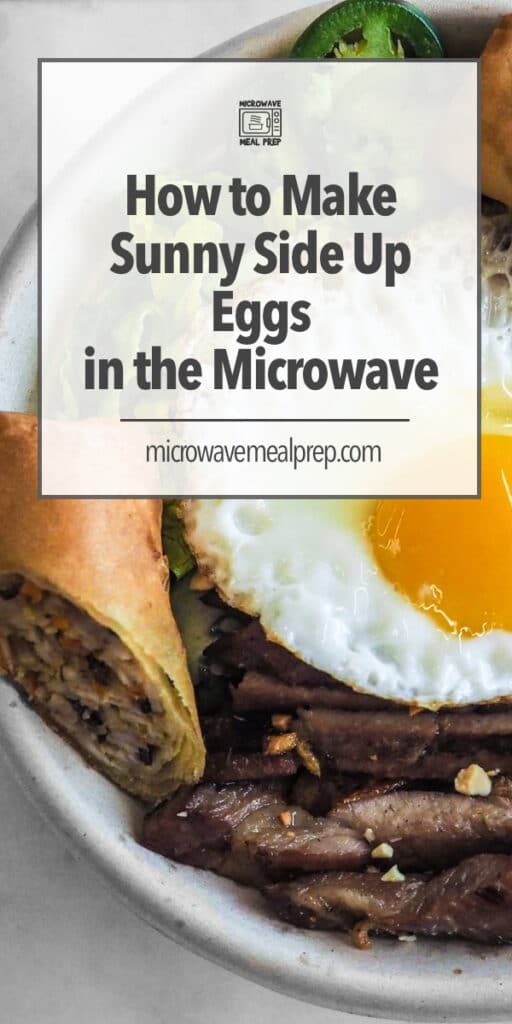 How to make sunny side up eggs in the microwave