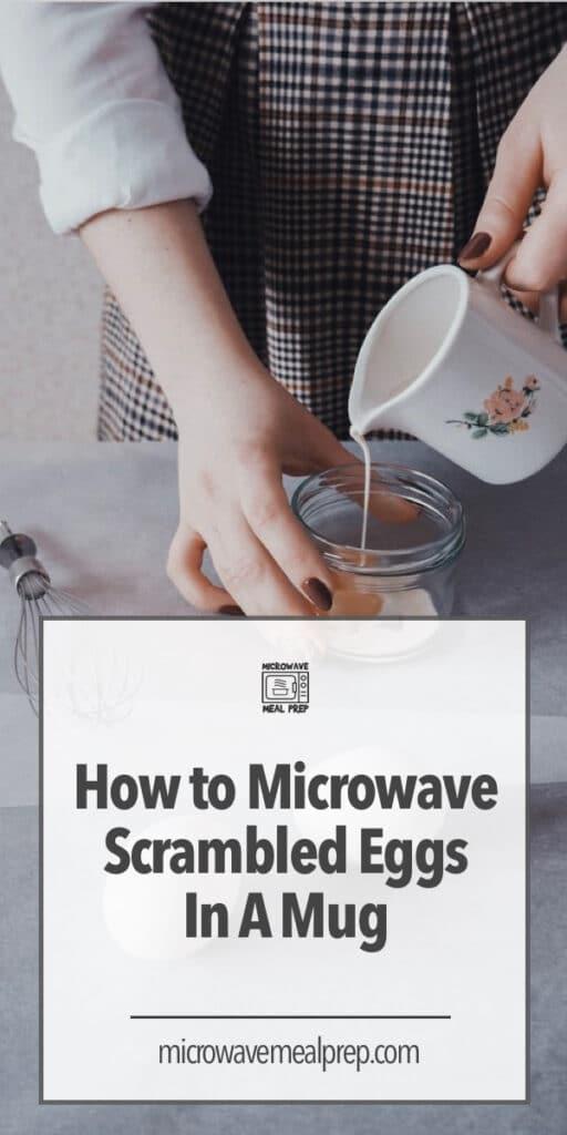 How to microwave scrambled egg in a mug