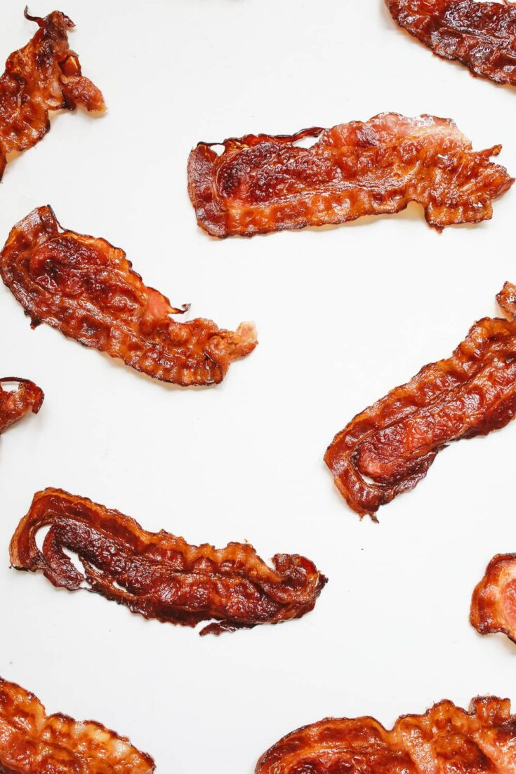 Microwave chewy bacon