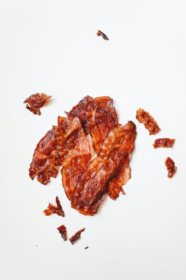 Microwave crispy bacon