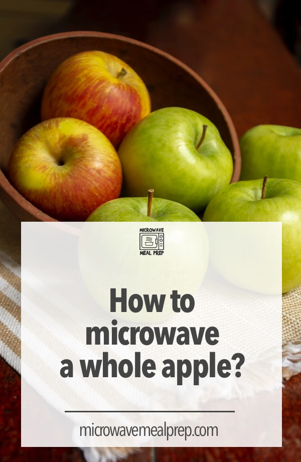 How to microwave a whole apple