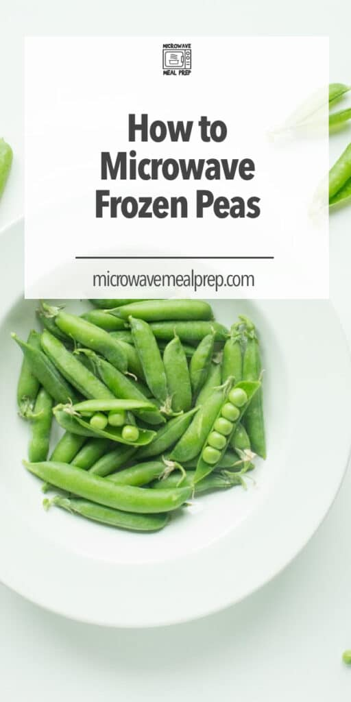 How to microwave frozen peas