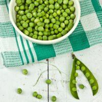 Best way to microwave peas