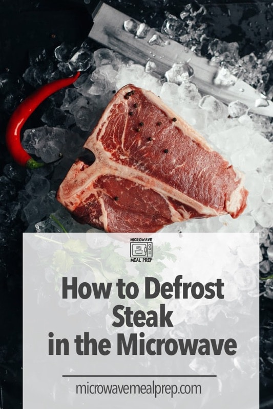 How to defrost steak in microwave