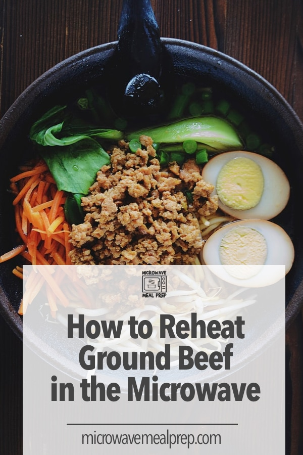 How to reheat ground beed in microwave