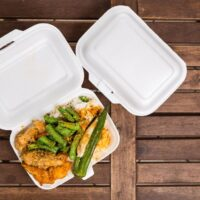 microwaving styrofoam take out boxes