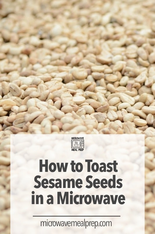 Best way to toast sesame seeds in microwave