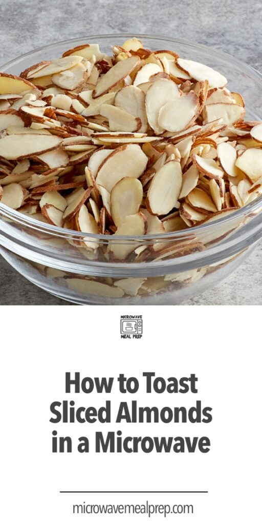 How to toast sliced almonds in microwave