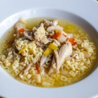 Best way to reheat chicken soup in microwave