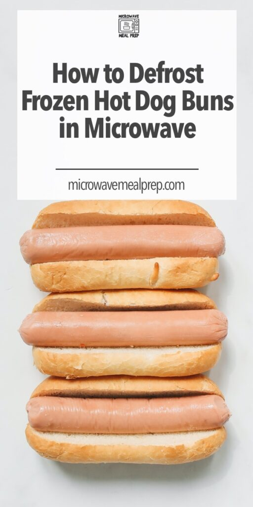 How to defrost frozen hot dog in microwave