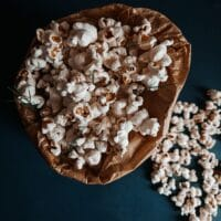 Microwave popcorn in paper bag