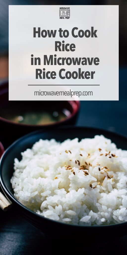 How to cook rice in microwave rice cooker