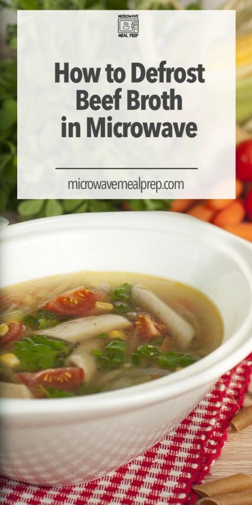 How to defrost beef stock in microwave