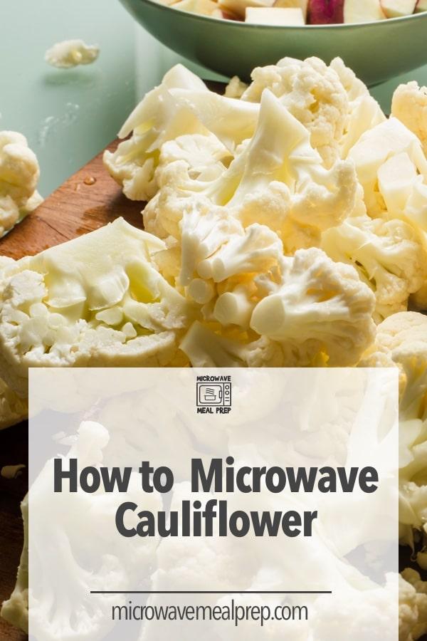 How to microwave cauliflower