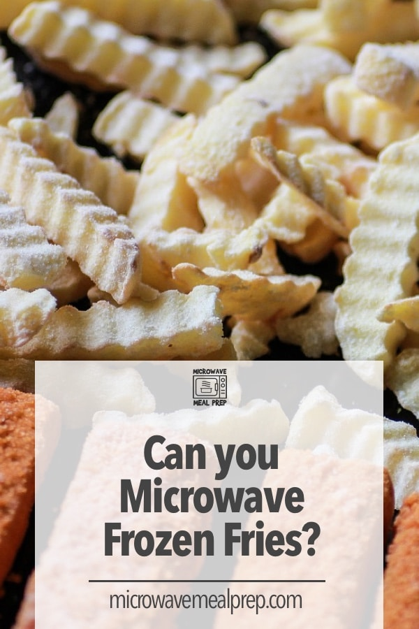 How to microwave frozen fries