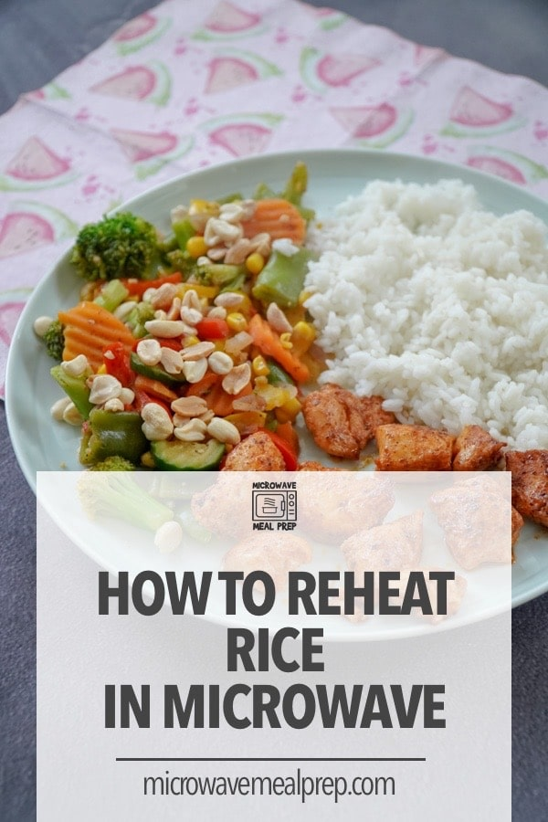 How to reheat rice in the microwave